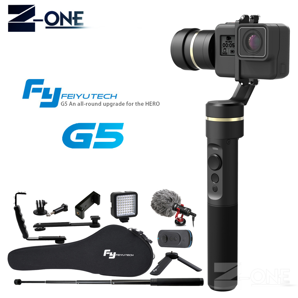 Feiyu G5 Handheld Gimbal for GoPro HERO 6 5 4 Xiaomi yi 4k SJ AEE Action Cams Splashproof Bluetooth-enabled APP control feiyutech feiyu fy g5 3 axis handheld gimbal splashproof for gopro hero 5 4 3 3 xiaomi yi 4k sj aee action cameras bluetooth