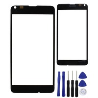 Black Front Screen Outer Glass Lens Replacement Repair Part For Nokia Lumia 640 With Logo High