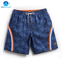 Board shorts men swimming trunks praia holiday swimwear surf swim short bathing suit sweat liner swimsuits plavky mesh