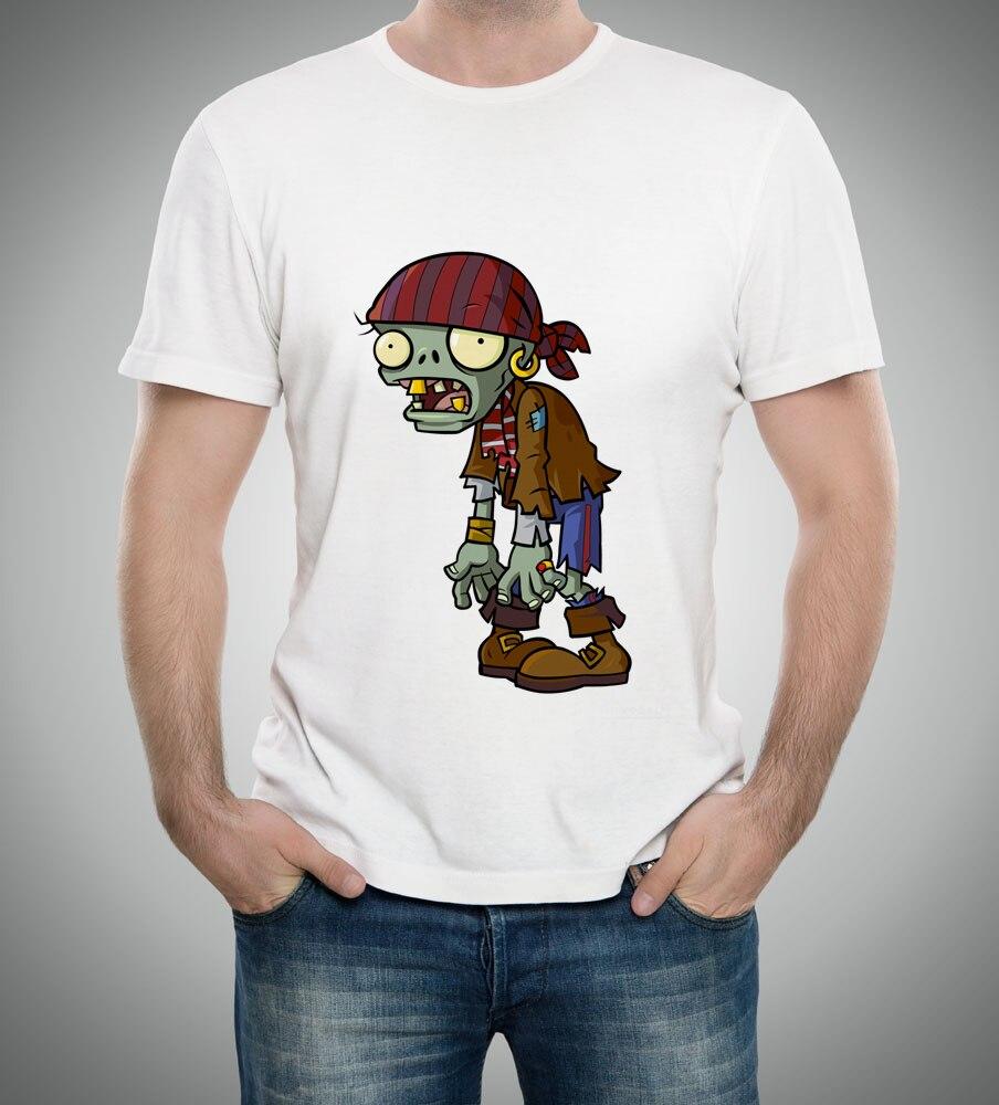 ②Verano hombres camisetas plantas vs zombis ropa PVZ patrón de ...