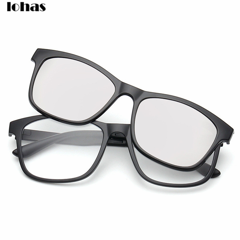 Prescription Eyeglass Frames With Magnetic Clip On Sunglasses : Polarized clip on sunglasses clip on glasses square ...