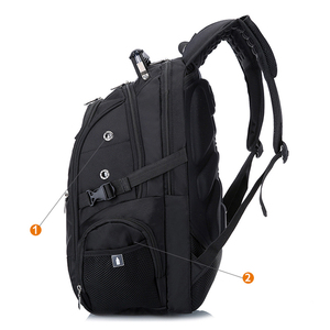 """Image 3 - Brand Swiss Laptop 15""""Backpack External USB Charge Swiss Computer Backpacks Anti theft Backpack Waterproof Bags for Men Women"""
