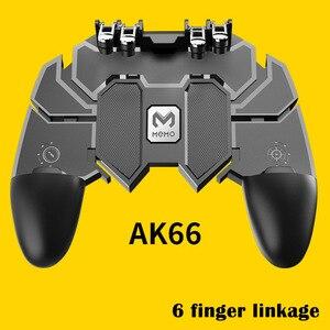 Image 2 - Ak66 seis dedo tudo em um pubg controlador móvel gamepad pubg gatilho móvel l1r1 shooter joystick almofada de jogo para ios android