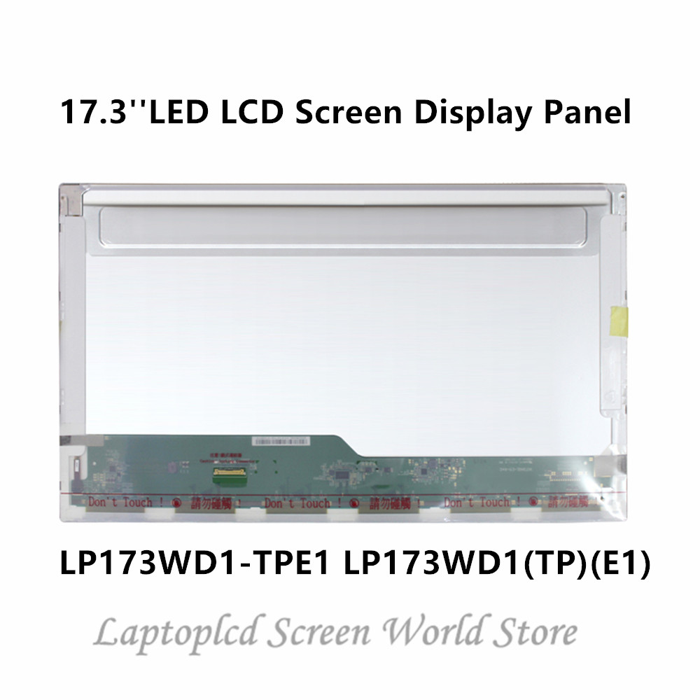 FTDLCD 17 3 Replacemente LED LCD Screen Display Panel For LP173WD1 TPE1 LP173WD1 TP E1 1600X900
