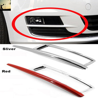 Car Styling ABS CHROME Front Rear Fog Lamps COVER TRIM For VW Volkswagen Golf Mk7 2014
