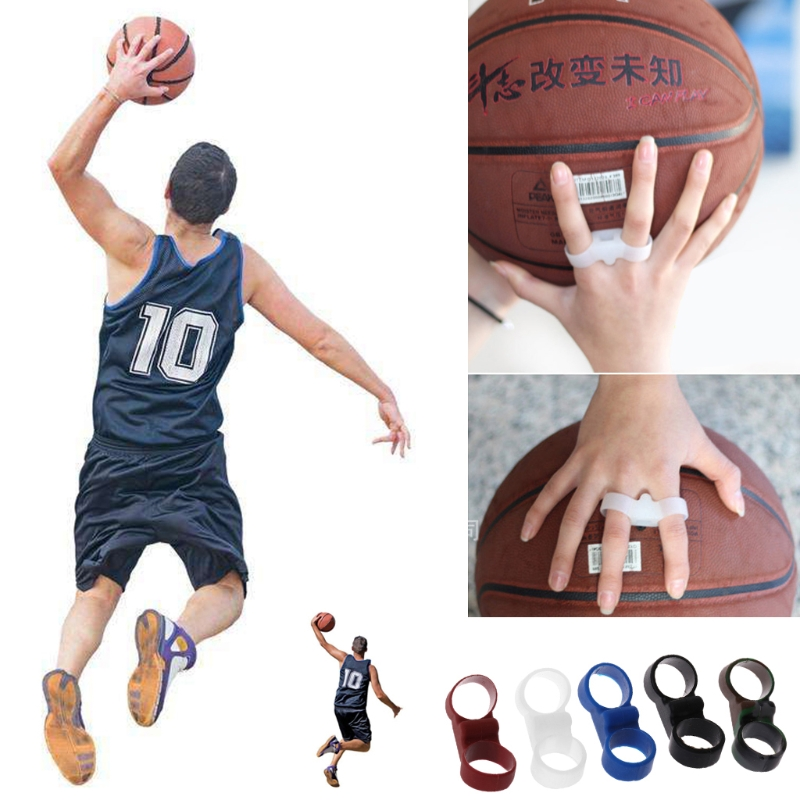 1 Pair Silicone Shot Lock Basketball Ball Shooting Trainer Training Accessories
