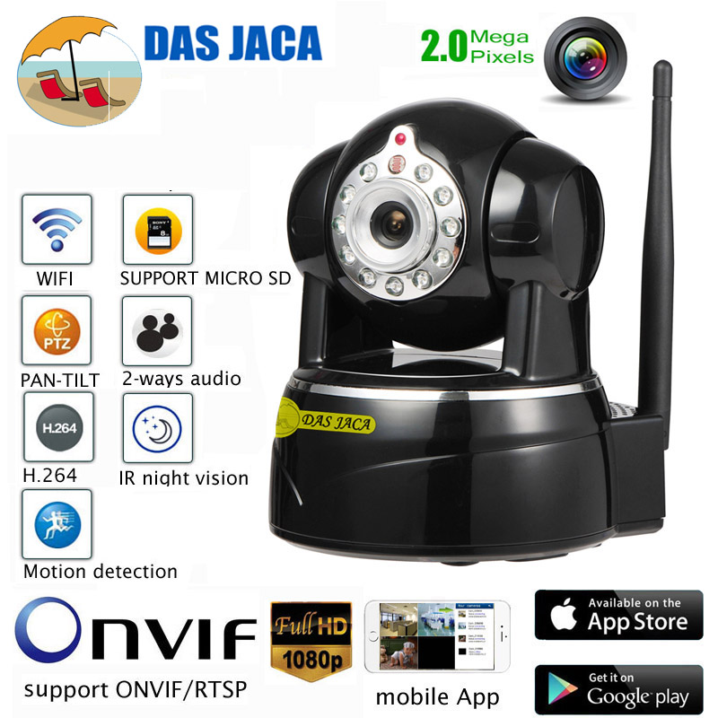 Das Jaca onvif home security camera ip surveillance wifi ptz ip camera 1080p dome baby monitor infrared cctv camera HD mic talk lolita jaca мини юбка