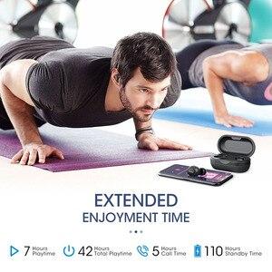 Image 4 - Mpow T5/M5 M משלוח Aptx TWS אוזניות Bluetooth 5.0 IPX7 עמיד למים ספורט אוזניות עם 5H לשחק זמן עבור Iphone X Huawei P20 לייט