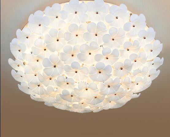 Romantic master bedroom lamp wedding room modern minimalist garden room ceiling living room atmosphere remote control LED lamp