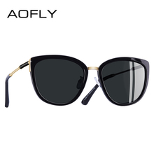 AOFLY marca nuevo diseño de ojo de gato gafas de sol de moda de las mujeres pequeñas gafas de sol polarizadas de Metal tonos UV400 A105