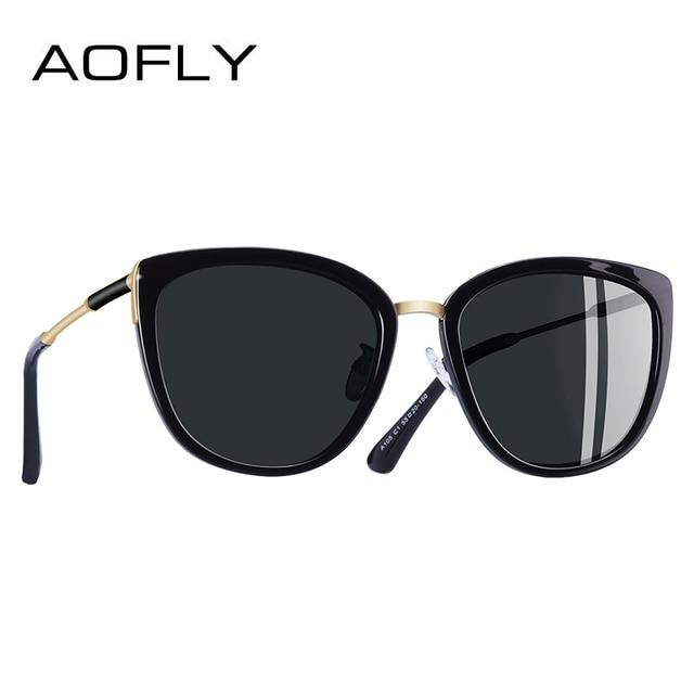 7af4d96bd5 Gafas de sol de ojo de gato nuevas de diseño de marca AOFLY para mujer  pequeñas
