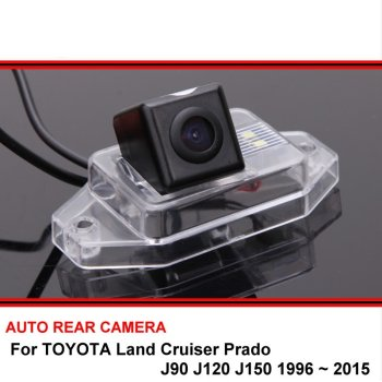 For TOYOTA Land Cruiser Prado J90 J120 J150 1996 ~ 2015 Car Rearview Parking Reverse Backup Rear View Camera HD CCD Night Vision image