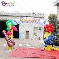Wykwintne rzemiosła 4x3 mh nadmuchiwane muzyczne łuki zabawki witamy dekoracji dostosowane do reklamy na wejście balon|Nadmuchiwane trampoliny|Zabawki i hobby -