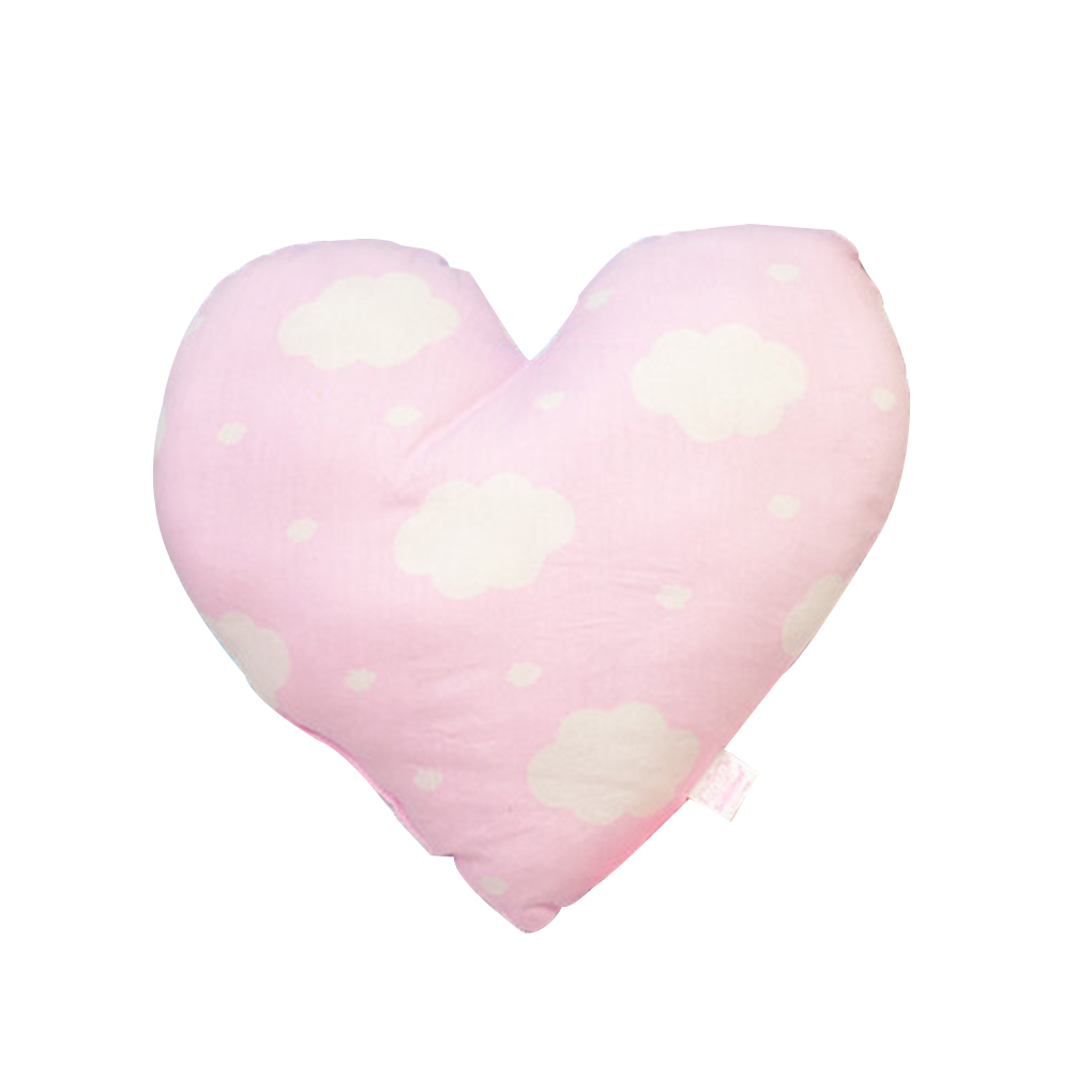 Купить с кэшбэком Heart Shape Baby Pillow Soft Newborn Infant Cotton Throw Pillow Cushion for Toddler Room Bedding Decoration