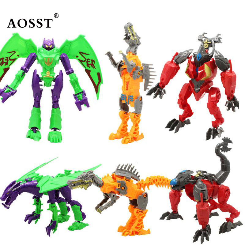 Cartoon dinosaur robot Assembly Deformation Dinosaur Plastic Novelty Educational Dinosaur Toys Gift for Children игрушка good dinosaur 62006