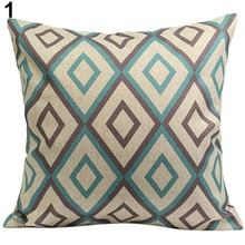 43 43cm Christmas Vintage Geometric Flower Cotton Linen Throw Pillow Case Printed Pillow Decorative Pillowcases