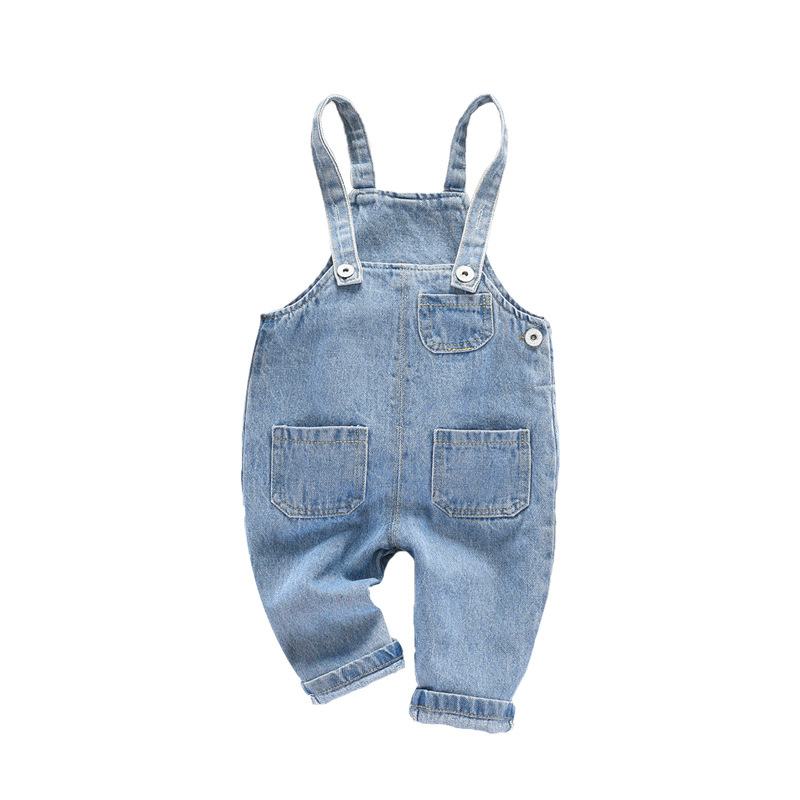 Baby Child Casual Jeans Infant Girl Denim Jumpsuit For Toddler Overalls Pants