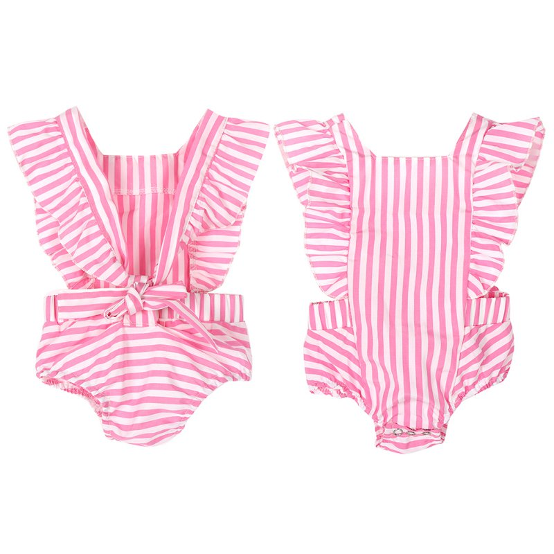 Infant Baby Kids Girl Clothes   Romper   Striped Cotton Jumpsuit Playsuit Outfits Sunsuit