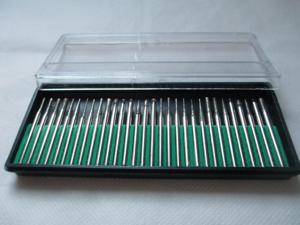 30 vnt., 3 mm deimantiniai šlifuokliai, dremeliniai sukamojo - Abrazyviniai įrankiai - Nuotrauka 3