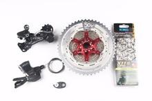 Shimano SLX M7000 4 шт. велосипед MTB 11 скоростной комплект Groupset Shifter + SunRace cassette 11-т 46 T 11-т 50 t + адаптер + цепь KMC