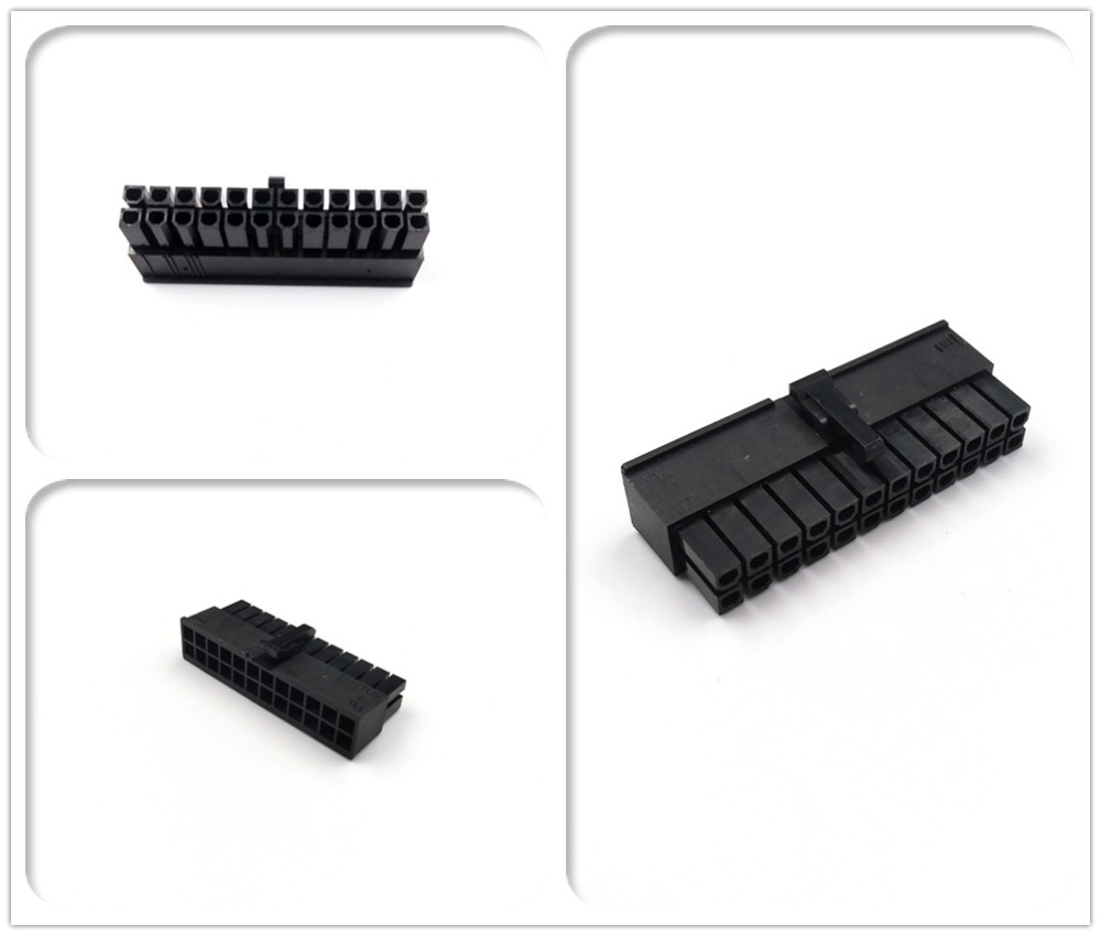 JMT PC Modular Power Supply ATX 24Pin Male Connector Housing Included Terminals / Pins 4.2mm Pitch Spacing 5557 Type