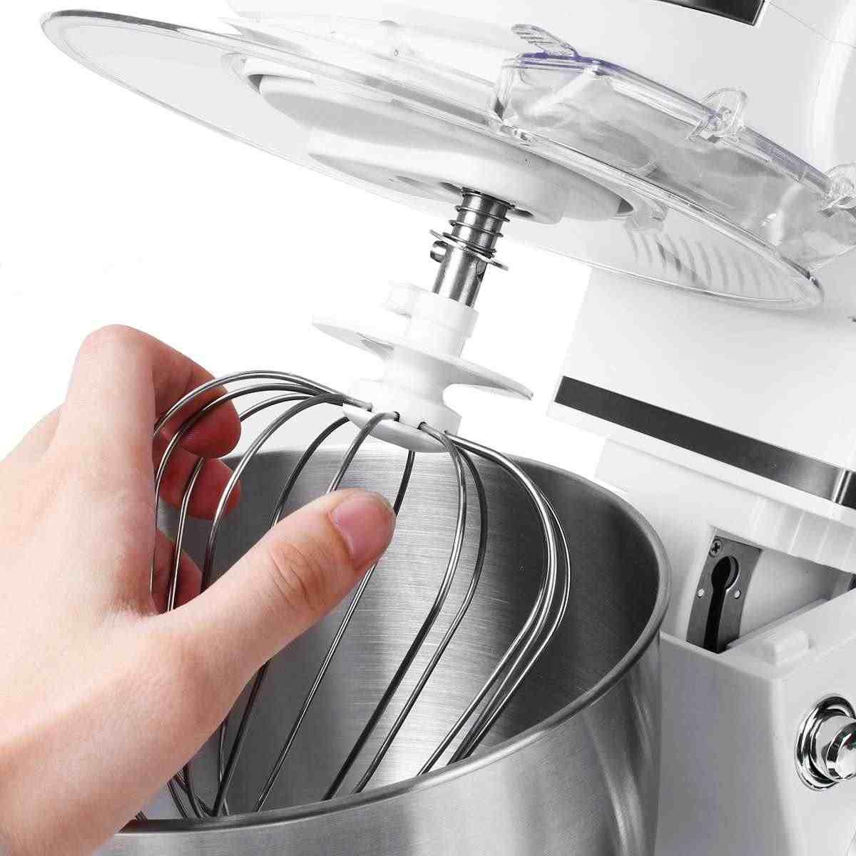 5L Comida Cozinha Batedeira 1000 W 6 velocidade Tigela de Aço Inoxidável Ovo Whisk-Liquidificador Misturador de Massa da Máquina do Fabricante cozinha Cozinhar Ferramentas