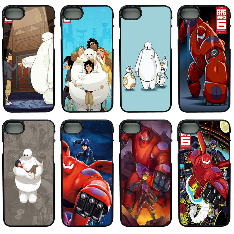 Hot New Arriv Big Hero 6 Cell Phone Cases Hard Plastic Phone Cover for iphone 8 7 6 6S PLUS X 5S 5C 5 SE iPod Touch 4 5 6 Case