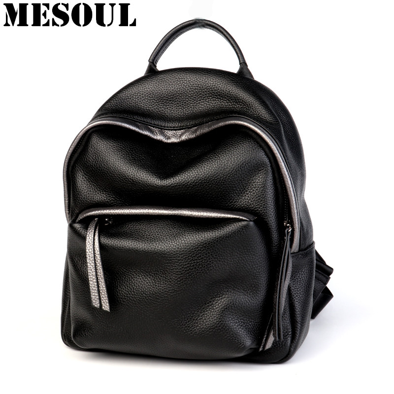 Ladies Backpack Shoulder Bag Genuine Leather Backpacks Female School bags for Girls Rucksack Women Travel Bag Bagpack Mochila swdvogan new travel backpack korean women rucksack pocket genuine leather men shoulder bags student school bag soft backpacks