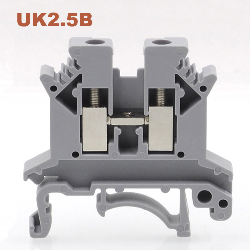 20/50/100 pces bloco terminal do parafuso do trilho do ruído UK-2.5B bornier terminais de cabo de fio elétrico blocos conector de cobre morsettiera 32a