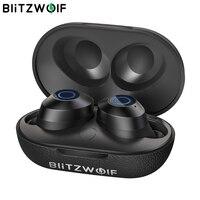 BlitzWolf FYE5 5,0 TWS настоящие беспроводные наушники-вкладыши спортивные стерео водонепроницаемые Hi-Fi мини наушники 10 м соединение без препятстви...