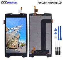 Digitalizador touchscreen para cubot, display de lcd para reposição de celular king kong, peças de lcd