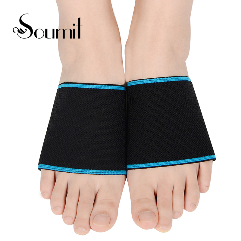 Soumit Foot arch Support Pad Elastic Yoga Brace Band Running Bandage Sport Straps Relieve Plantar Fasciitis Orthopedic Insoles sport cotton wrist brace wrap support black