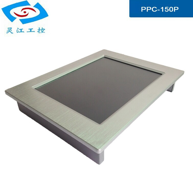 touch screen 15 inch mini fanless industrial panel pc 32G SSD& 2G RAM with intel atom N2 ...