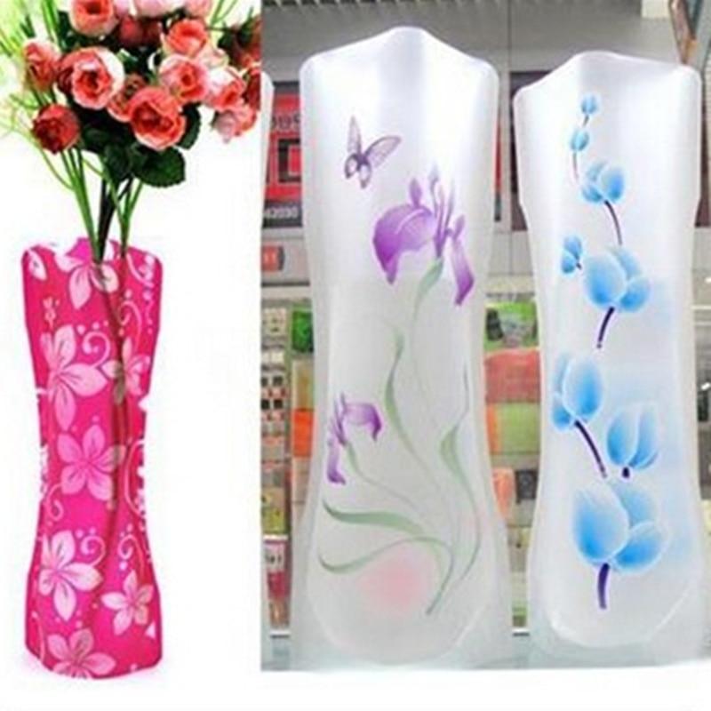 Glass Flower Vase Foldable Folding Flower Pvc Durable Vase Wedding Party Decor 27 X 11 5cm Eco