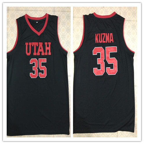 #35 Kyle Kuzma Utah Retro throwback stitched embroidery basketball jerseys Custom any Number and name Jerseys