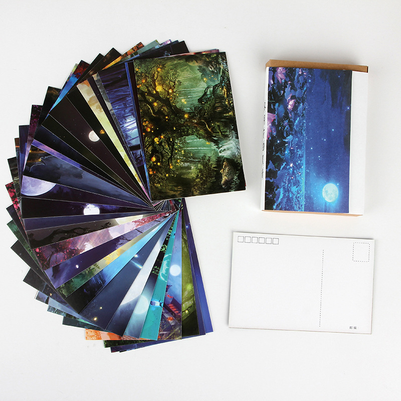 30 Sheets/Set Darkness Before Dawn Postcard/Greeting Card/Message Card/Birthday Letter Envelope Gift Card Two Sizes