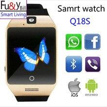 Nueva Moda Pantalla Curva Q18S Función Pasómetro Bluetooth Relojes Inteligentes NFC Tarjeta SIM Inteligente Reloj de Movimiento de Seguimiento