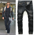 Robin Jeans Men Famous Brand Fake Designer Clothes 2016 Fashion Black Biker Denim Vintage Homme High Quality  Male Casual dsq
