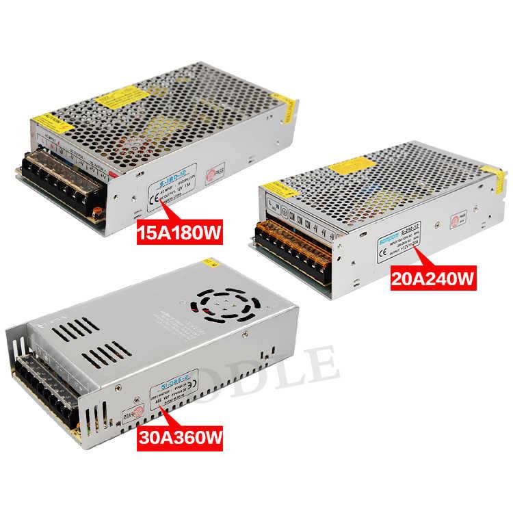 Controlador de tira Led 110V/220V a transformador DC12V 10W 25W 36W 60W 120W 150W 180W 250W 360W 480W 600W adaptador de fuente de alimentación de iluminación