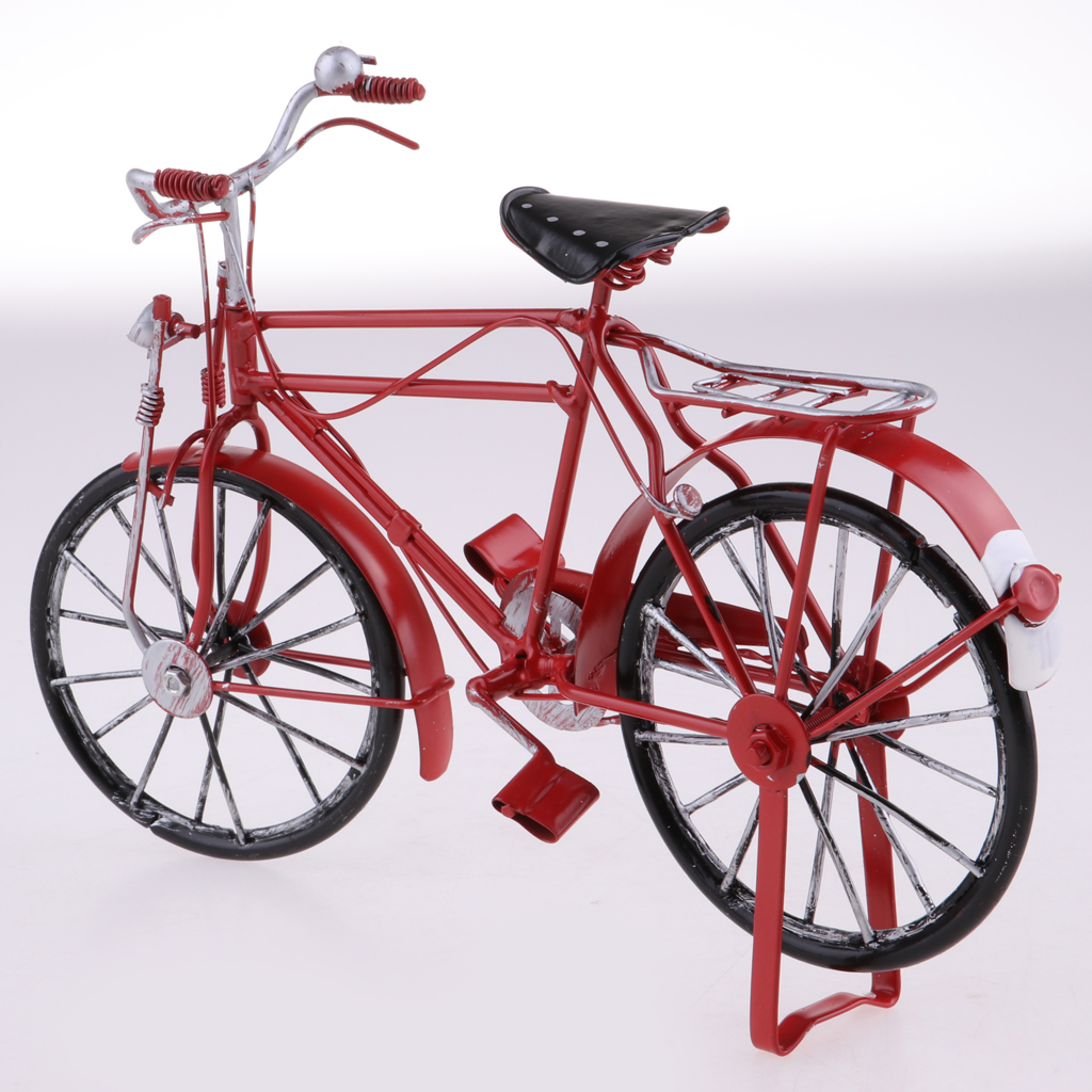 1//12 Dollhouse Miniature Furniture Black Metal Bicycle Fairy Garden Decor