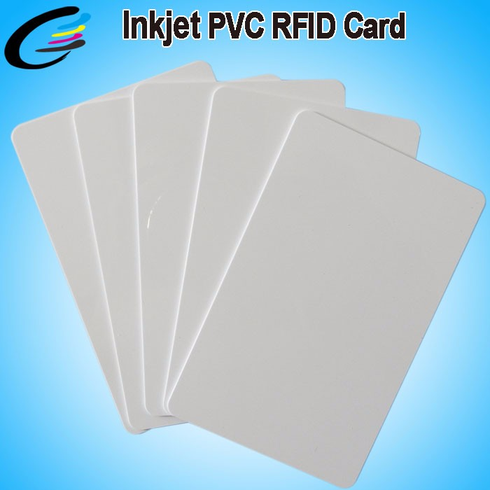 Inkjet Id Card Blank Inkjet PVC Printing Card CR80 Size With Chip 13.56MHZ 230pcs/box