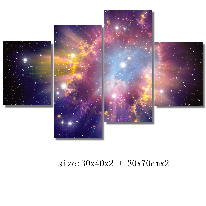 Free shipping 4 panel No Frame Beautiful sky Wall Art Painting the Picture Print on Canvas HD Printed Pictures for Home Decor