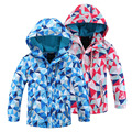 Children Outerwear Warm Coat Sporty Kids Clothes Double-deck Waterproof Windproof Boys Girls Jackets For 6-14T Spring and Autumn