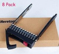 Heretom 8 Pack 2.5 SFF HDD Tray Caddy Bracket 500223 001 for HP ProLiant Server G4 G5 DL380 DL360 DL385 ML370 ML350 ML570 G6 G7