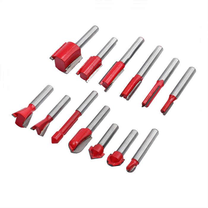 35 sztuk/zestaw frez zestaw bitów rozwiertaków 6mm Shank młyn do obróbki drewna drewna narzędzie tnące do drewna ręcznie grawerowanie narzędzia tnące