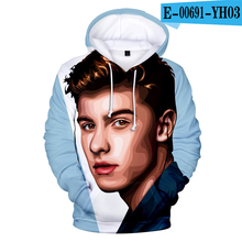 Shawn Mendes Hoodie Pullover Jacket Long Sleeve Hoodies Women Hooded Hip Hop Kpop Shawn Mendes Clothes 3D Printed 3D Clothes shawn desman shawn desman let s go lp