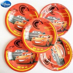 Image 4 - 68pcディズニーハッピーバースデー子供macqueen車男の子シャワーパーティーの装飾セットバナーストローカッププレートサプライヤー