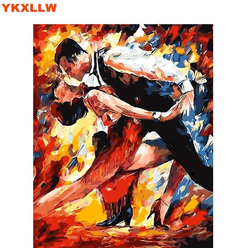 757 50 De Réductiondanse Latine Partenaire De Danse Coloriage Image Par Numéros Peinture Calligraphie Toile Photos Pour Salon Dessin Par