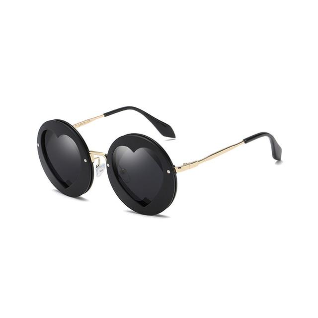 6e3bae725a77 Round Sunglasses Children Heart Shape Designer Kids Shades for Girls Boys  Eyewear Goggle Baby Glasses Oculos 33917WD