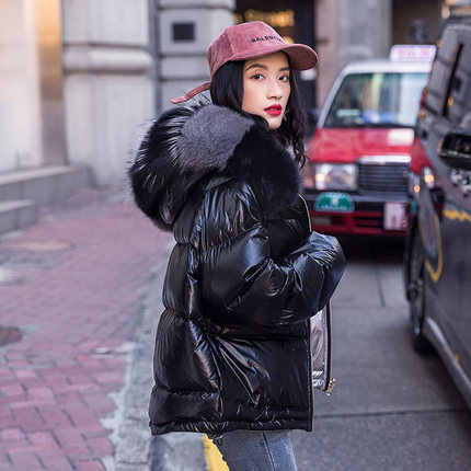 レディースパーカーカジュアル生き抜く秋冬フード付きコート冬のジャケットの女性光沢のある女性の冬のジャケットとコート 2019